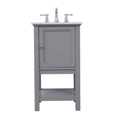 Metropolis Gray 19-Inch Vanity Sink Set