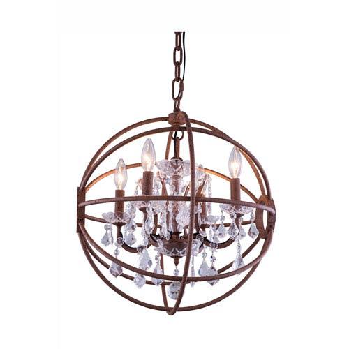 Rustic Sphere Light Fixture