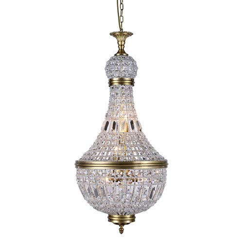 Stella French Gold 17-Inch Six-Light Mini Chandelier