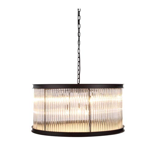 Royale Mocha Brown 32-Inch Nine-Light Pendant