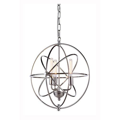 Elegant Lighting Vienna Polished Nickel Three-Light Pendant