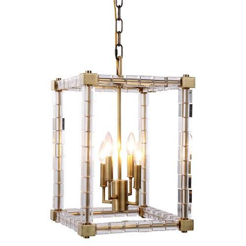 Cristal Burnished Brass 13-Inch Four-Light Pendant