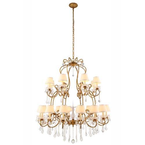 Diana Golden Iron 24-Light Chandelier