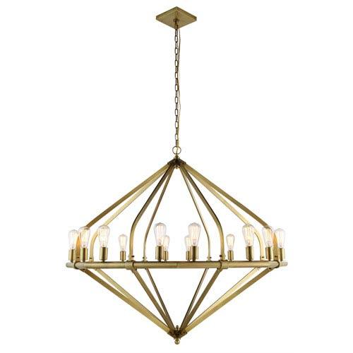Illumina Burnished Brass 16-Light Chandelier