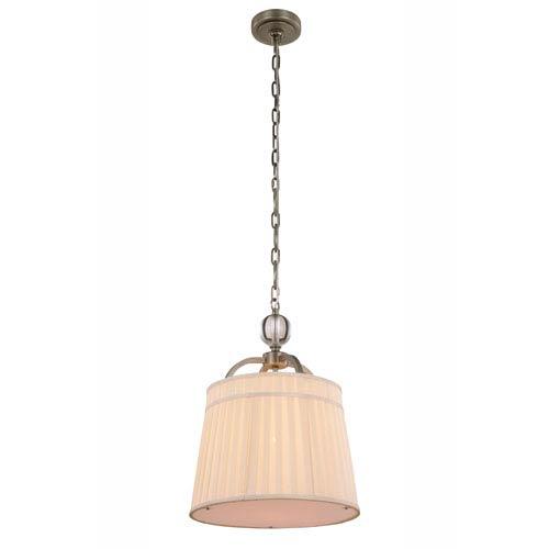Cara Vintage Nickel 15-Inch One-Light Pendant