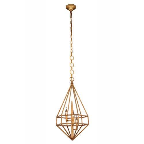 Marquis Golden Iron 14-Inch Three-Light Pendant