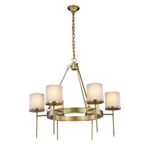 Bradford Burnished Brass Six-Light Chandelier