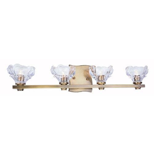 Terpin Light Antique Brass Four-Light Bath Light