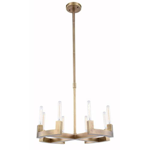 Elegant Lighting Corsica Burnished Brass 26-Inch  Eight-Light Chandelier
