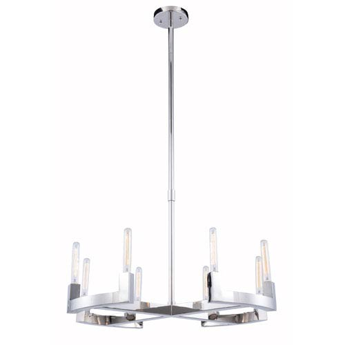 Corsica  Polished Nickel Eight-Light Chandelier