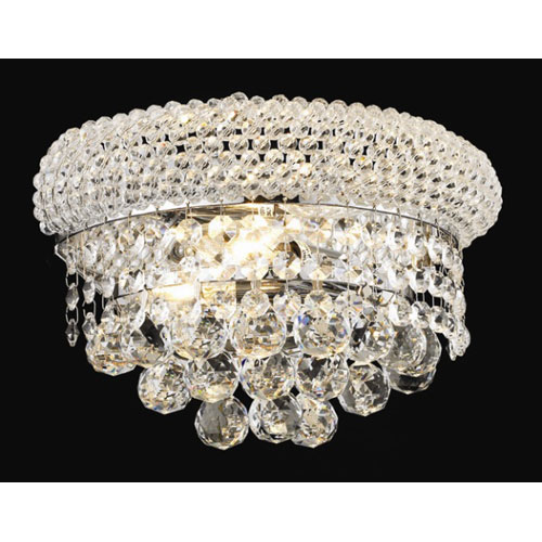 Primo Chrome Two-Light 12-Inch Wall Sconce with Royal Cut Clear Crystal