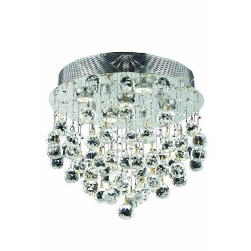 Elegant Lighting Galaxy Royal Cut Crystal Chrome Five Light 16-in Flush Mount Fixture