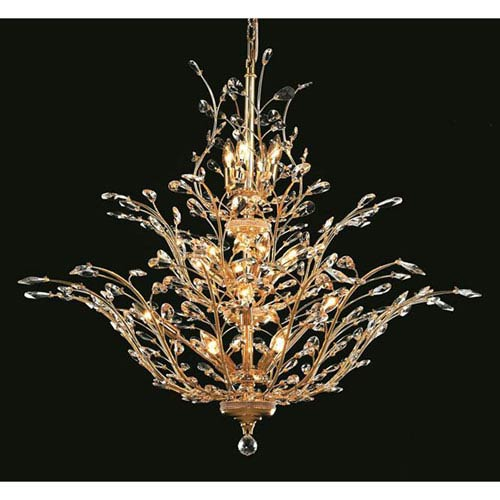 Elegant Lighting Orchid Gold Chandelier with Royal Cut Crystal