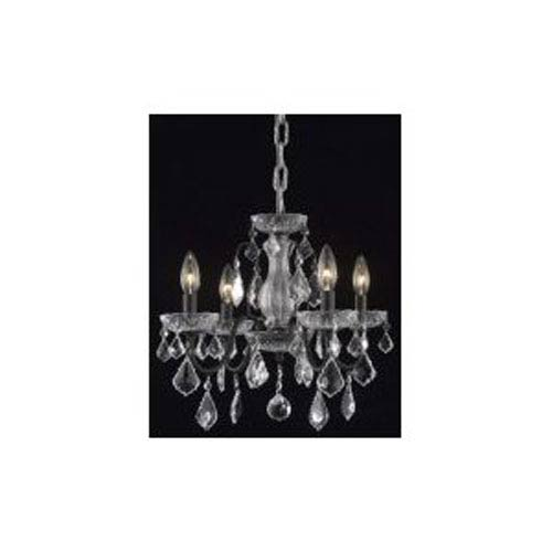 St. Francis Dark Bronze Four-Light Chandelier with Clear Royal Cut Crystals