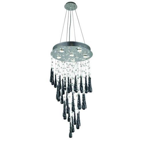 Elegant Lighting Comet Royal Cut Crystal Chrome Six Light 36-in Chandelier