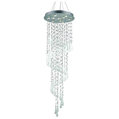 Elegant Lighting Comet Royal Cut Crystal Chrome 10 Light 72-in Chandelier
