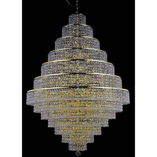 Elegant Lighting Maxim Gold Thirty-Eight Light Chandelier with Clear Royal Cut Crystals