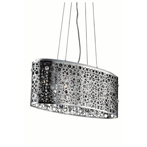 Elegant Lighting Soho Royal Cut Crystal Chrome Four Light 26-in Dining Room Pendant