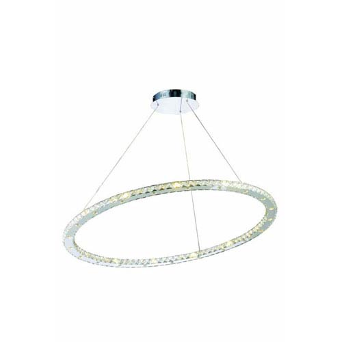Elegant Lighting Atom Royal Cut Crystal Chrome LED 42 Light 42-in Chandelier