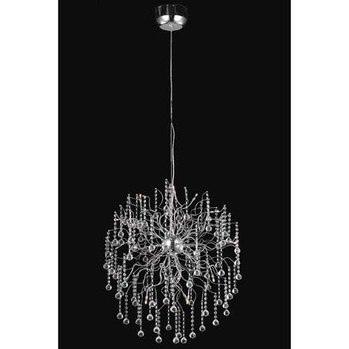 Elegant Lighting Astro Chrome Fifteen-Light Chandelier with Clear Royal Cut Crystals
