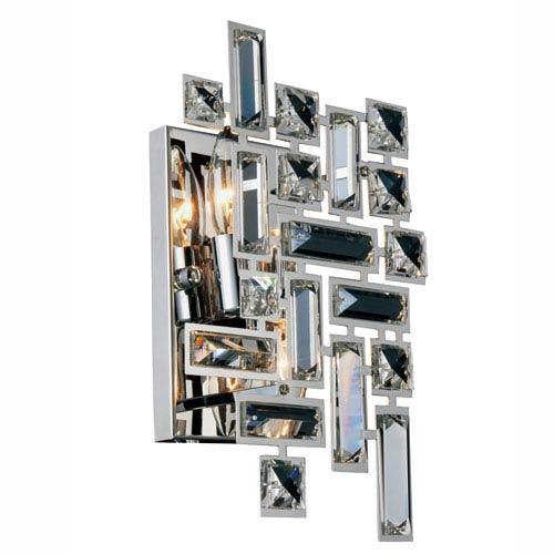 Elegant Lighting Picasso Chrome Two-Light Wall Sconce