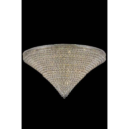 Elegant Lighting Tranquil Chrome 48-Light 60-Inch Flush Mount with Royal Cut Crystal