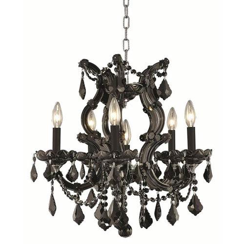 Elegant Lighting Maria Theresa Black Chandelier with Jet Black Royal Cut Crystal