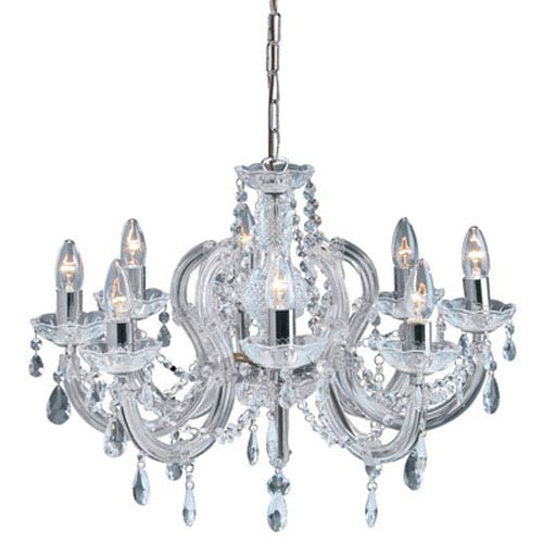 Elegant Lighting Maria Theresa Elegant Cut Crystal Chrome Eight Light 32.5-in Chandelier