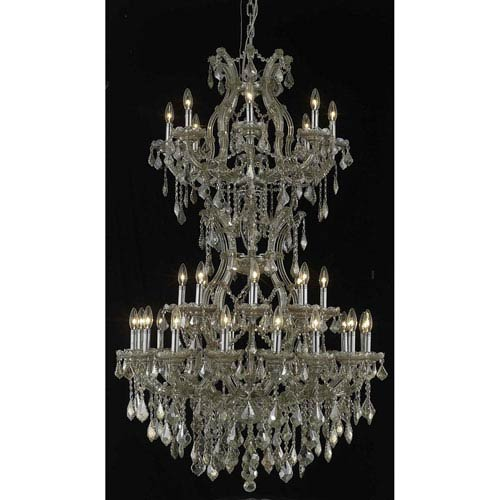 Elegant Lighting Maria Theresa Gold Chandelier with Swarovski Strass/Golden Teak Elements Crystal