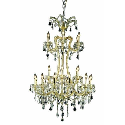 Elegant Lighting Maria Theresa Spectra Crystal Gold 24 Light 50-in Chandelier