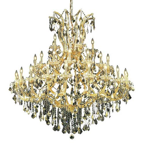 Elegant Lighting Maria Theresa Gold 41-Light Chandelier with Swarovski Strass/Golden Teak Elements Crystal