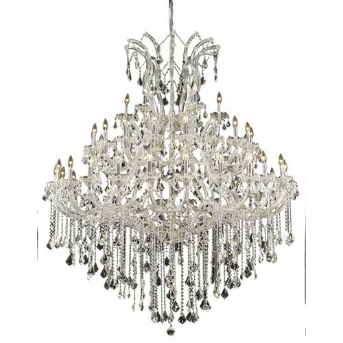 Maria Theresa Chrome Forty-Nine Light 60-Inch Chandelier with Royal Cut Clear Crystal