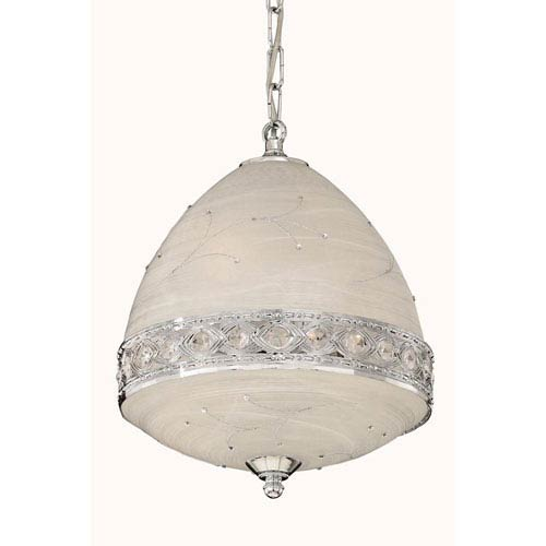 Italia Chrome Four-Light Pendant with Swarovski Strass Crystal