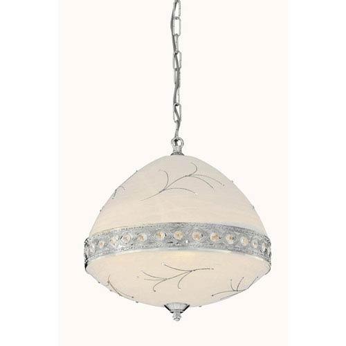 Italia Chrome Six-Light Pendant with Swarovski Strass Crystal