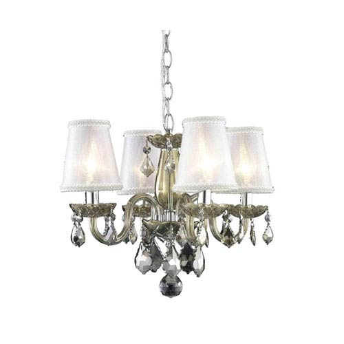 Elegant Lighting Rococo Golden Teak Chandelier with Golden Teak Royal Cut Crystal