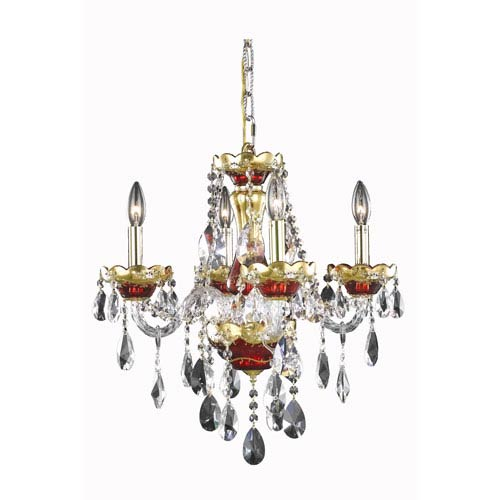 Red Aesthetic Chandelier: Gold Chandeliers Free Shipping