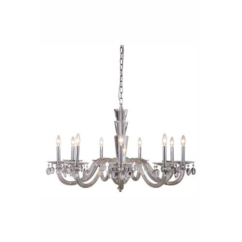 Augusta Chrome Nine-Light Chandelier