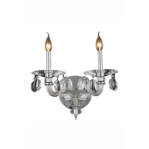 Augusta Chrome Two-Light Wall Sconce