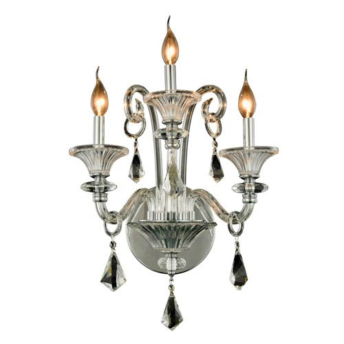 Aurora Chrome Three-Light Wall Sconce