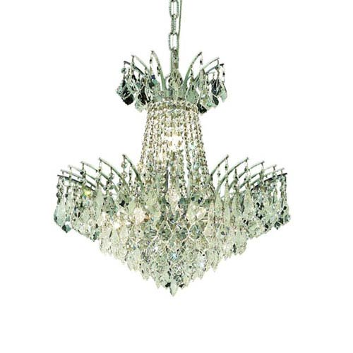 Elegant Lighting Victoria Chrome Eight-Light Chandelier with Clear Royal Cut Crystals