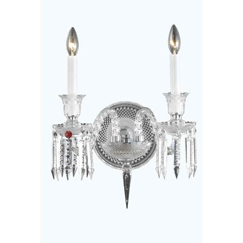 ornate lighting. Elegant Lighting Majestic Chrome Two-Light Wall Sconce With Cut Crystal Ornate L