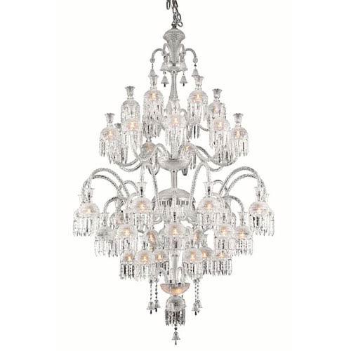 Elegant Lighting Majestic Elegant Cut Crystal Chrome 42 Light 80-in Chandelier