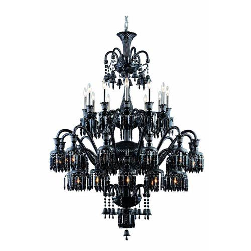 Elegant Lighting Majestic Elegant Cut Crystal Black 36 Light 60-in Chandelier