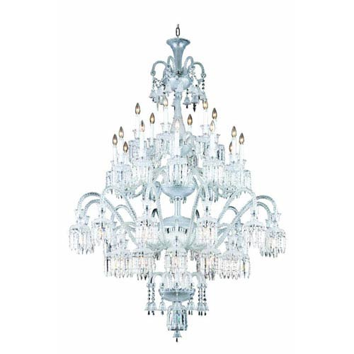 Elegant Lighting Majestic Elegant Cut Crystal Chrome 42 Light 75-in Chandelier