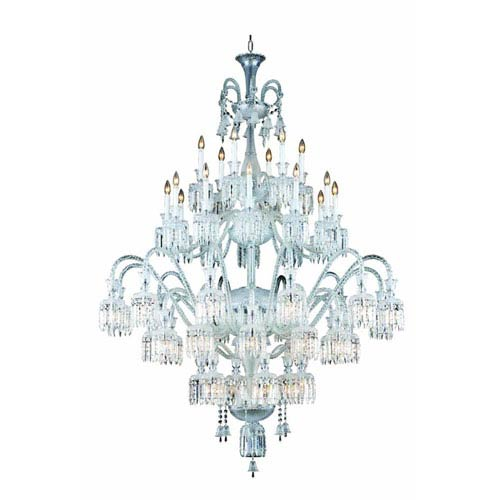 Elegant Lighting Majestic Chrome 48-Light Chandelier with Elegant Cut Crystal