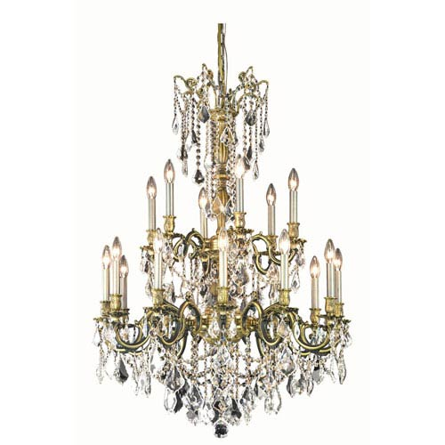 Rosalia Antique Bronze Chandelier with Royal Cut Crystal