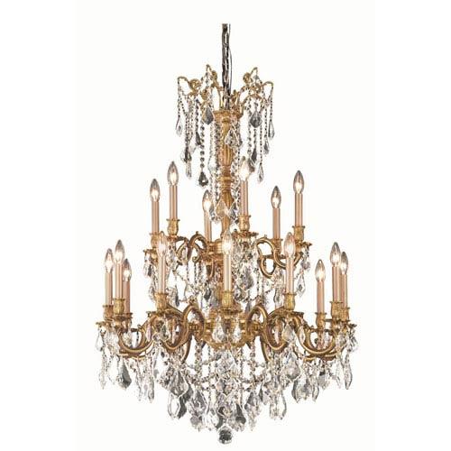 French gold chandelier bellacor elegant lighting rosalia french gold chandelier with royal cut crystal mozeypictures Choice Image