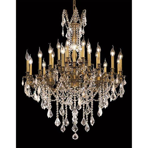 Elegant Lighting Rosalia French Gold 24-Light Chandelier with Royal Cut Crystal
