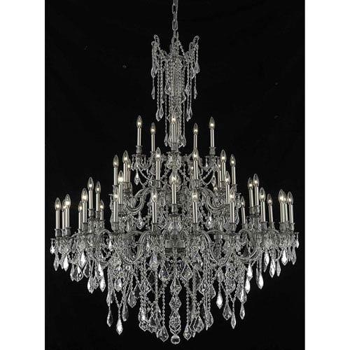 Elegant Lighting Rosalia Pewter 45-Light Chandelier with Swarovski Spectra Crystal