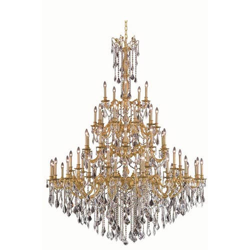 Elegant Lighting Rosalia French Gold 55-Light Chandelier with Royal Cut Crystal